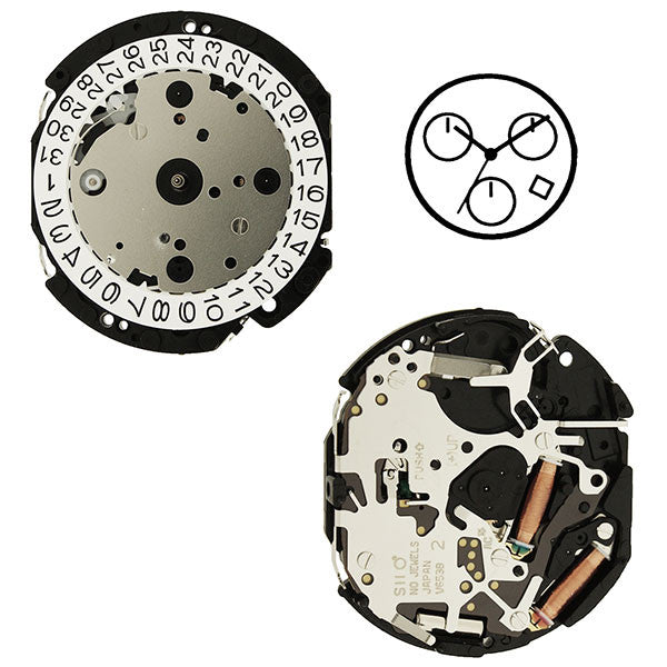V653 20 Seiko Watch Movement