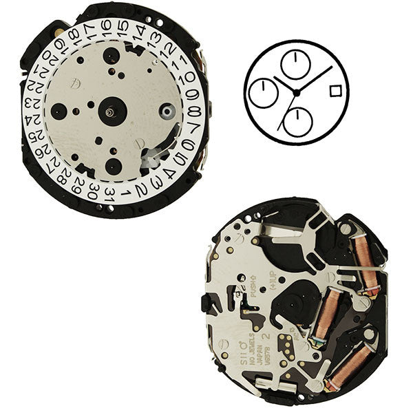 V657 20 Seiko Watch Movement (9346159108)