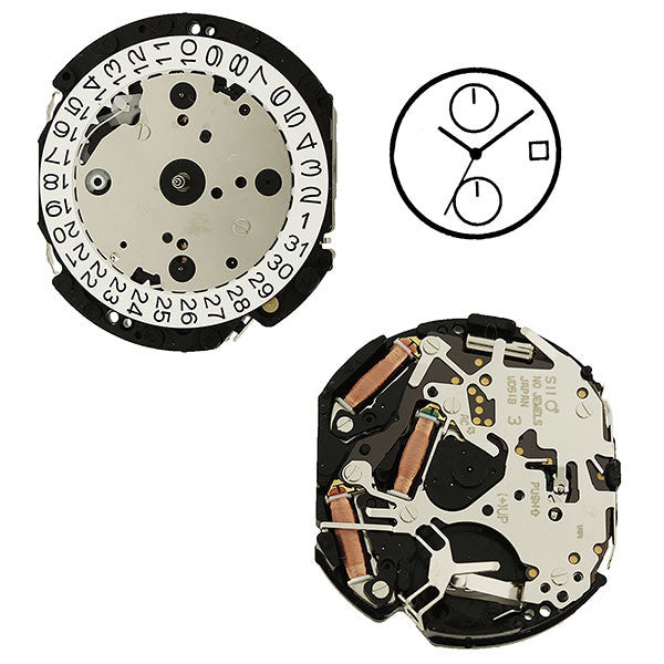 VD51 Height 2 SII Quartz Watch Movement