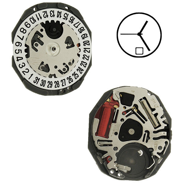 VJ22 Date 6 SII Quartz Watch Movement (9346174084)