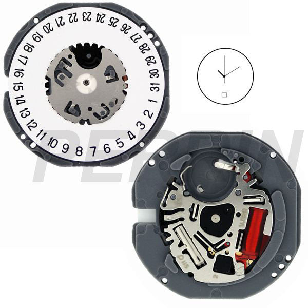 VJ32 Date 6 SII Watch Movement