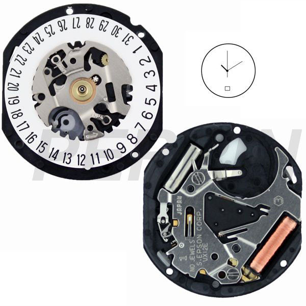 VX12 Date 6 Watch Movement