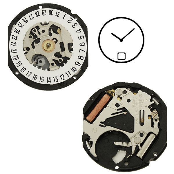 VX19 Date 6 Watch Movement