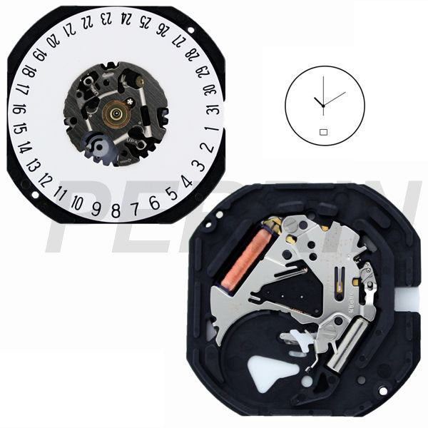VX42 Date 6 Watch Movement