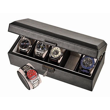 Black Leatherette Watch Box WB-305 (1535889702946)