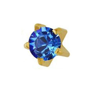 3 mm September Sapphire Studs in Tiffany Setting - card of 12 pairs