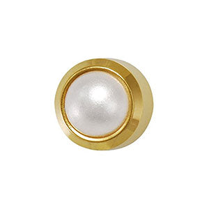 3 mm Pearl in Bezel Setting - card of 12 pairs (550751764514)
