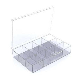 Twelve Compartment Box - All Plastic (10444075855)