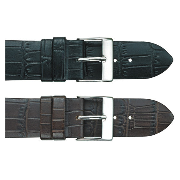 313 Thin Alligator Grain Watch Strap (9602324303)