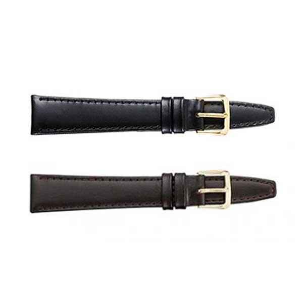 332 Flat Stitched Leather Watch Strap (9318850116)