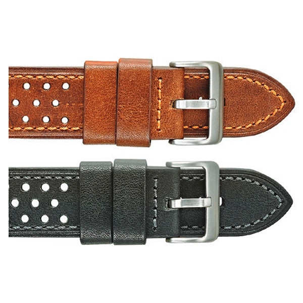 Thick Stitched Leather Watch Strap