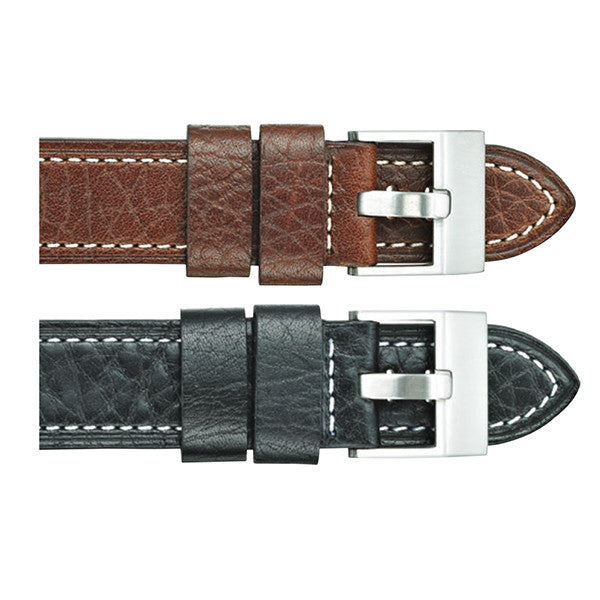 375 Buffalo Grain Leather Watch Strap