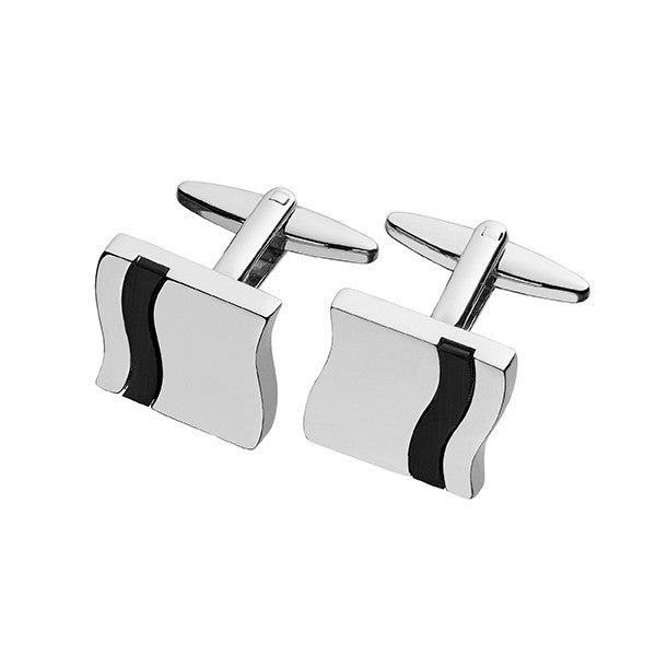 Black Onyx Inlay Cufflinks SC77 (11627699983)