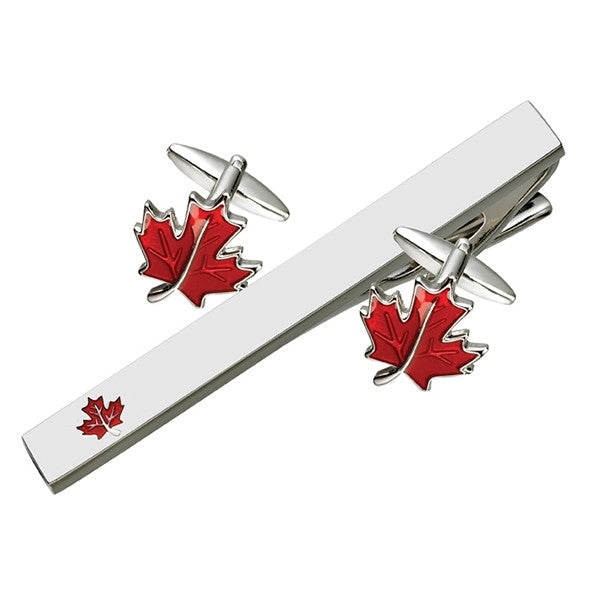 Leaf Cufflink Tie Bar Set (9318952004)