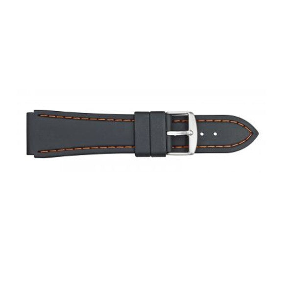 Silicon Orange Stitched Watch Band 20mm