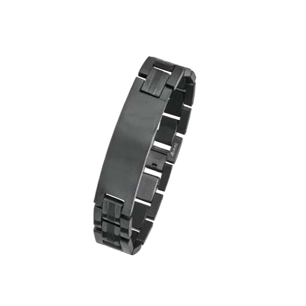 TB910 Black Plated Steel Bracelet