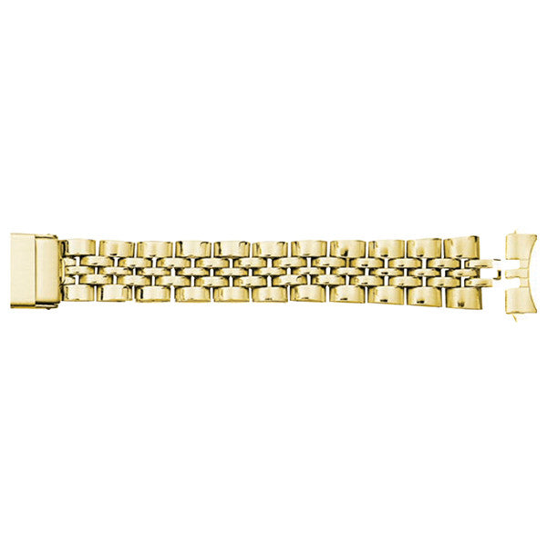 yellow metal watch strap