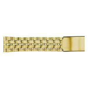 gold metal watch strap