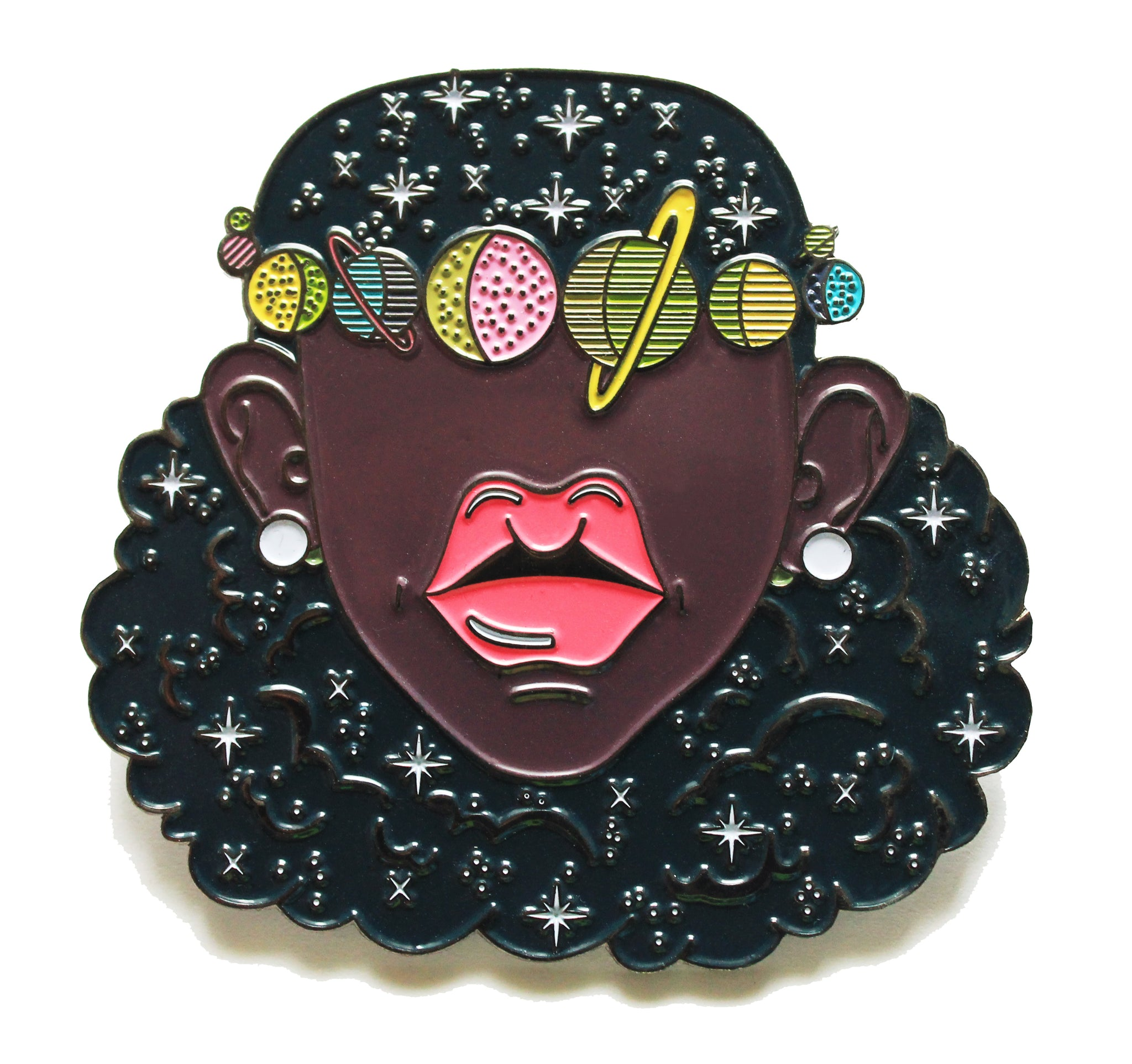 Space Girl Lapel Pin