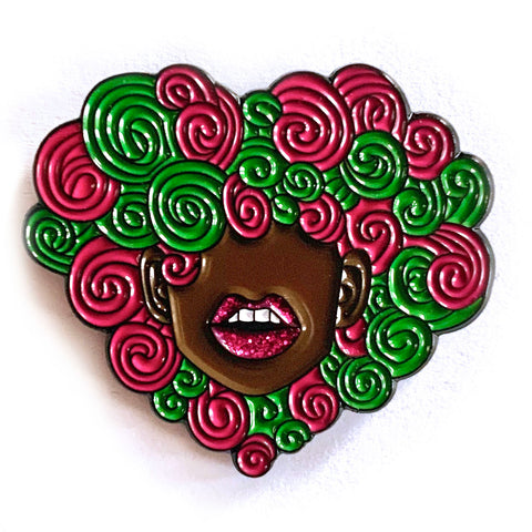 Curly Love Lapel Pin