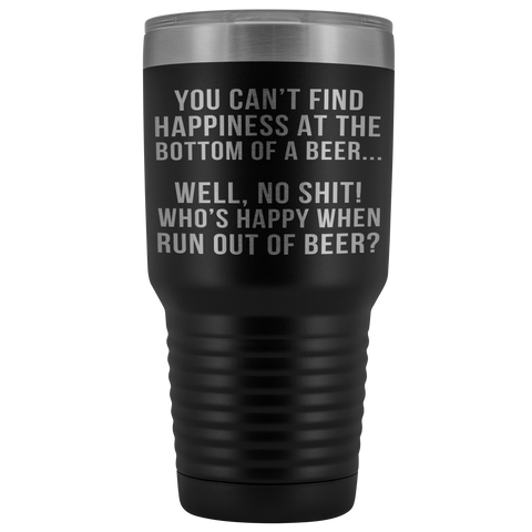Bottom Of A Beer Laser Etched Tumbler (Premium)