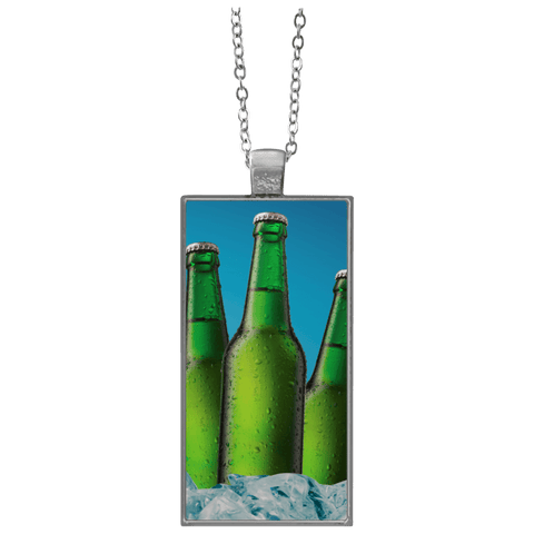 Beer Bottle Rectangle Necklace
