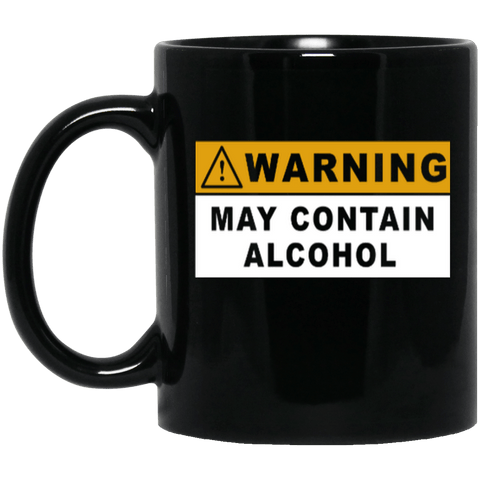 May Contain Alcohol Black Mug