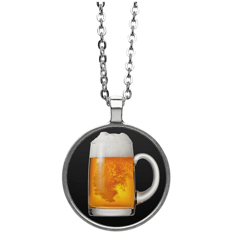 Beer Glass Circle Necklace
