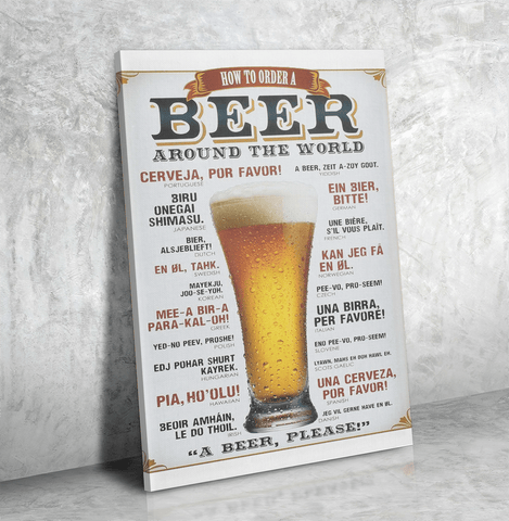 How to Order Beer Canvas
