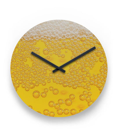 "Beer Bubbles Clock 11"" Round Wall Clock"