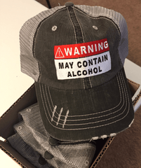 Warning May Contain Alcohol Cap