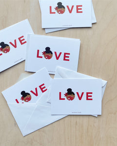 Love Mask Notecard Set