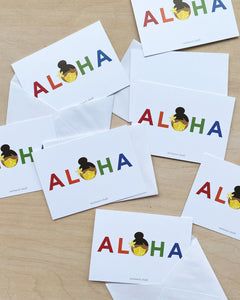 **New** Aloha Mask Notecard Set