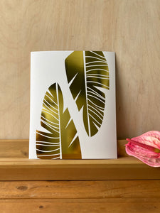 **NEW** Banana Leaf Gold Foil Print
