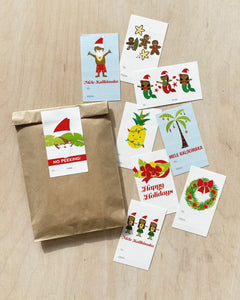 Christmas Sticker Gift Tags