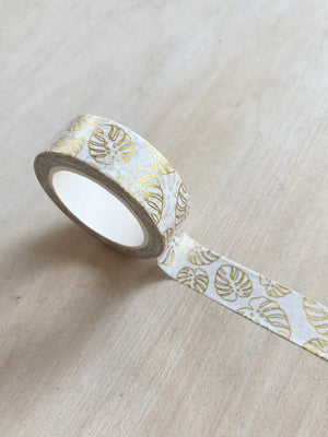 Gold Monstera Washi Tape