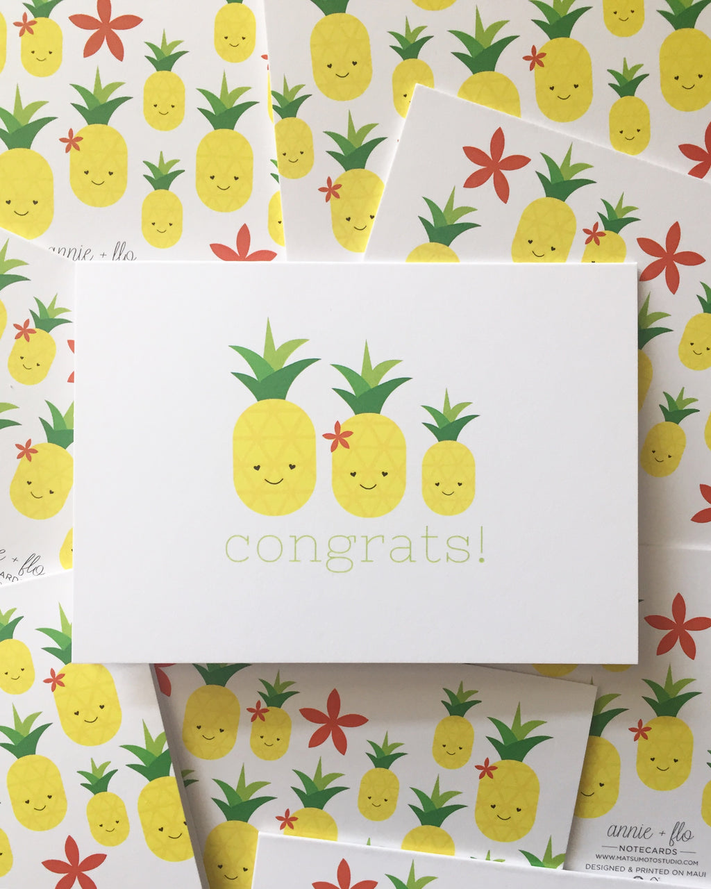 Congrats Pineapple Notecard
