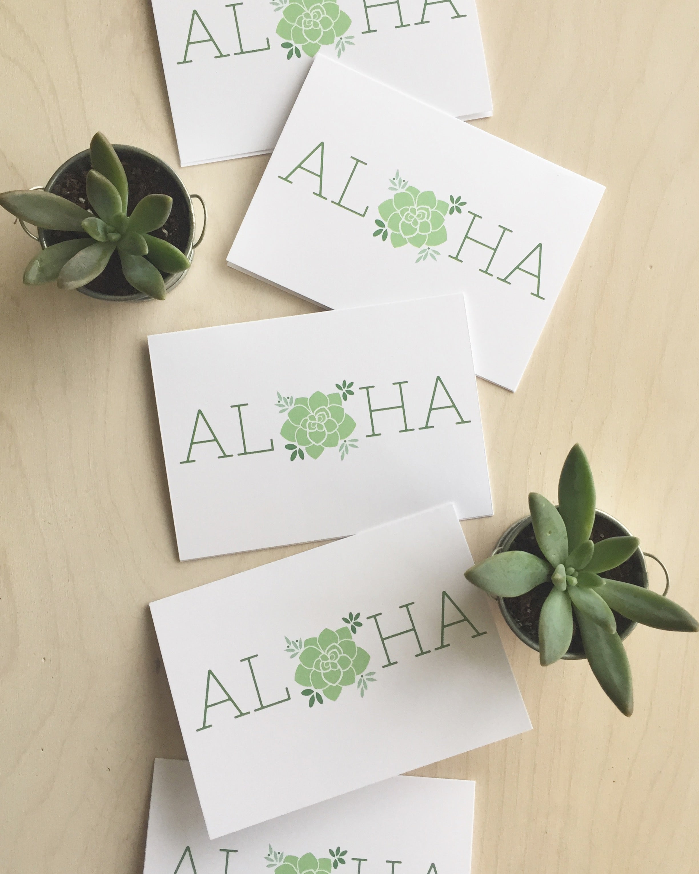 *New* Aloha Succulents Notecard