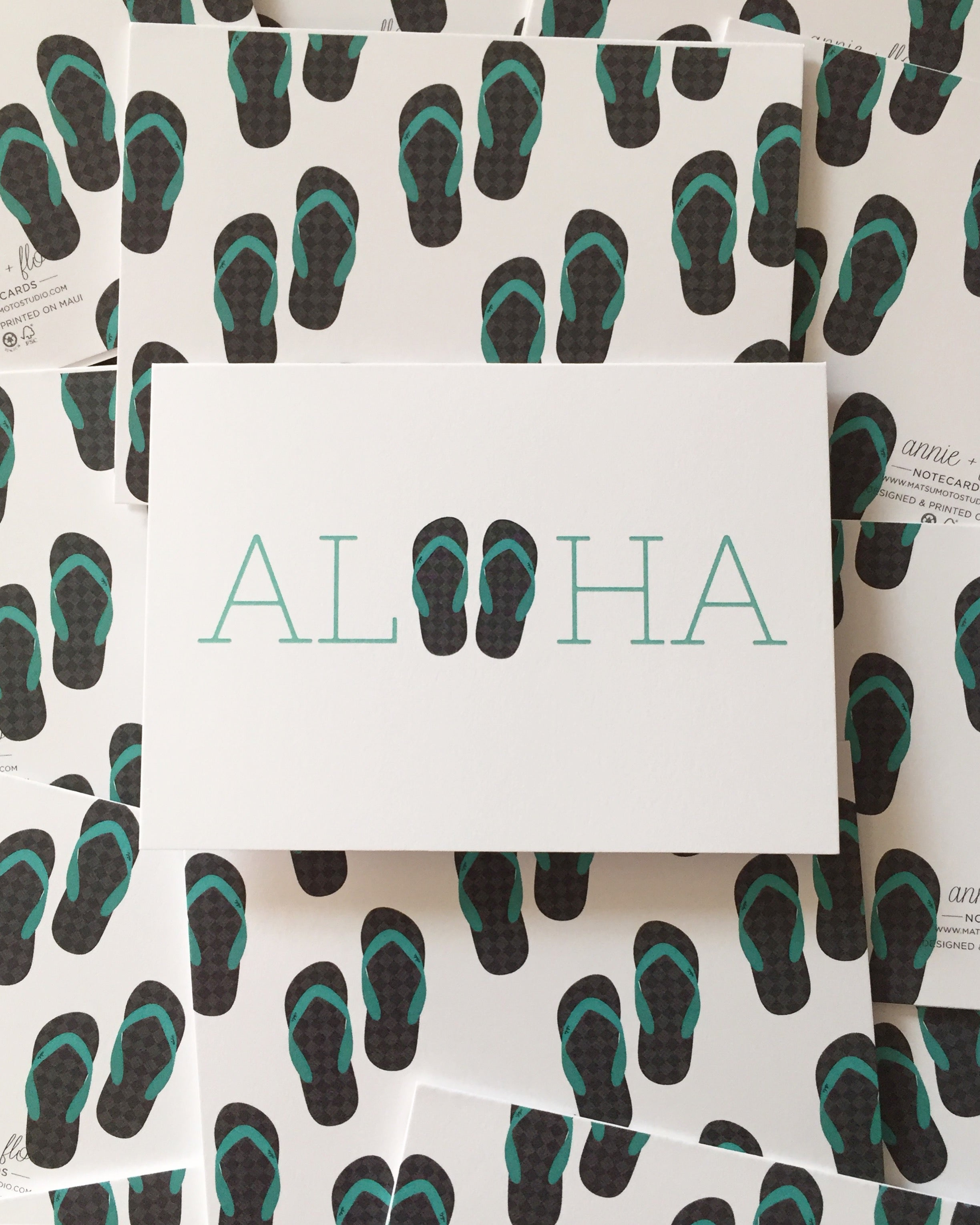 *New* Aloha Slippers Notecard