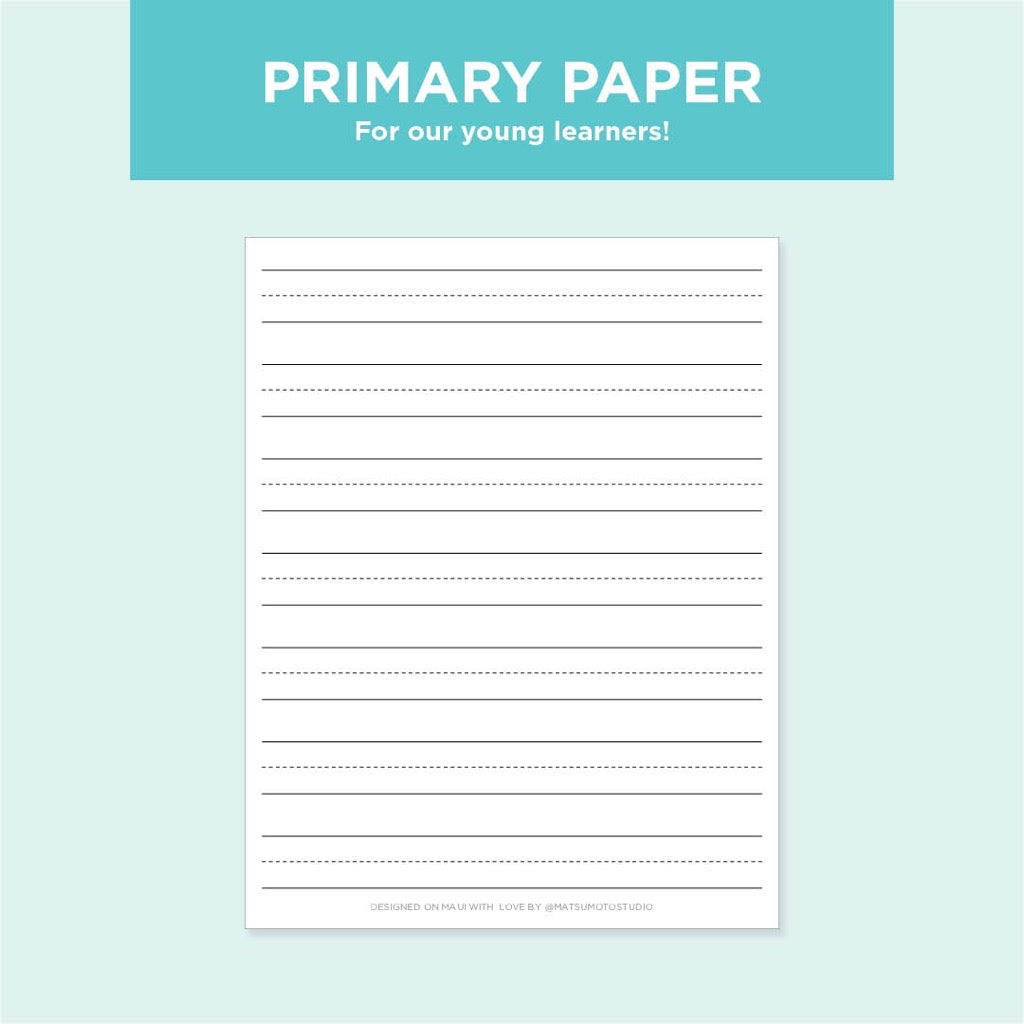 Primary Paper Free Printable