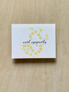 With Sympathy Yellow A2 Notecard