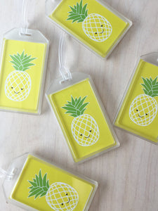 Happy Pineapple Luggage Tag