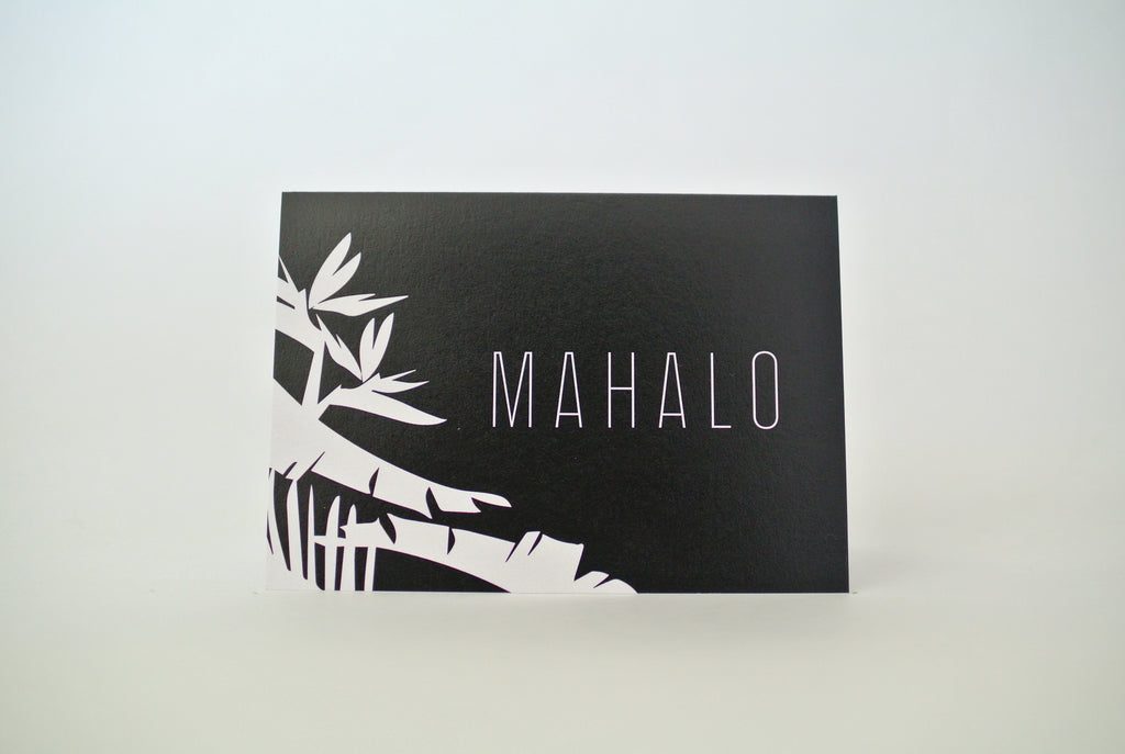 *New* Mahalo Tropical Modern Notecard