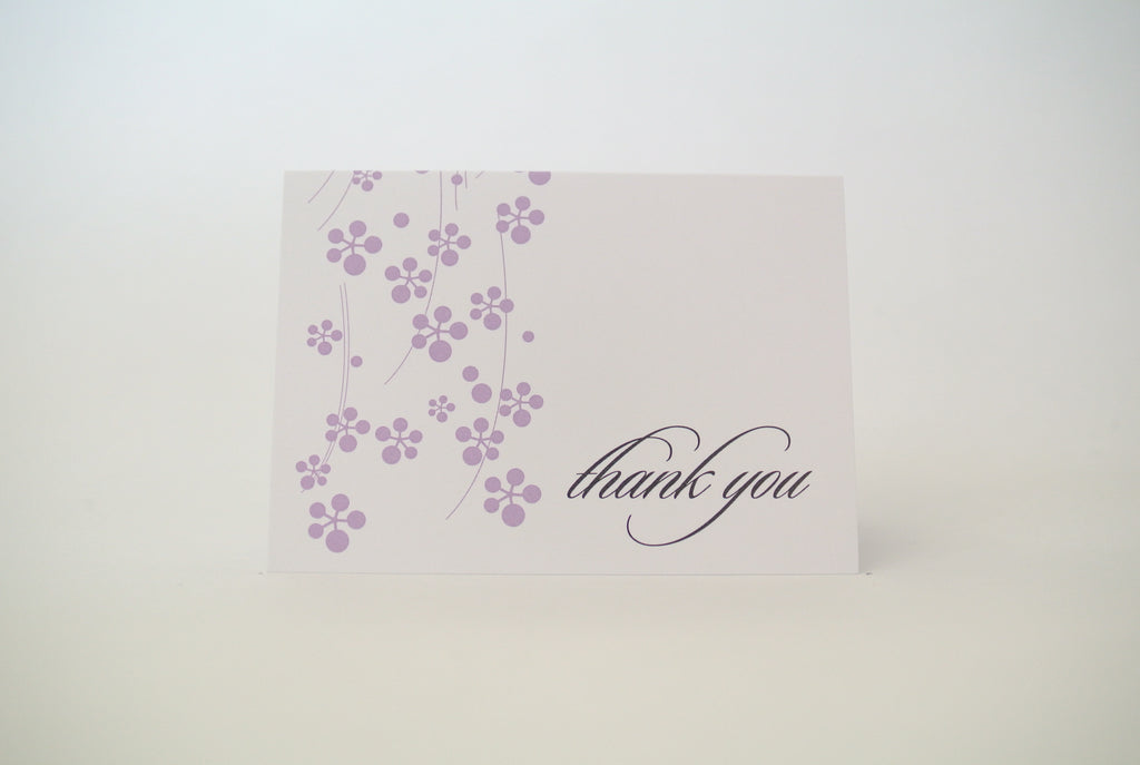 Purple Hana Thank You Notecard