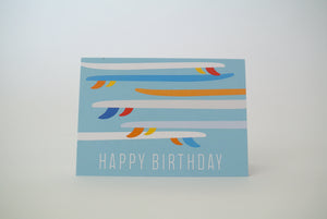 Longboard Happy Birthday Notecard