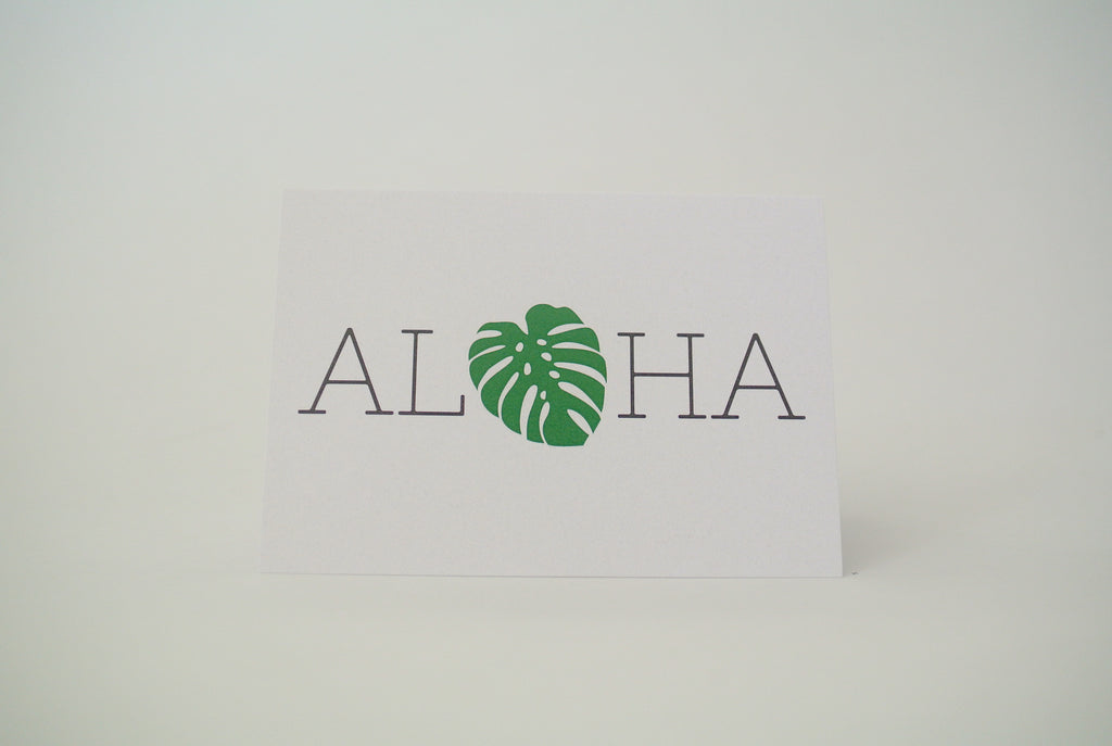 Aloha Monstera Notecard