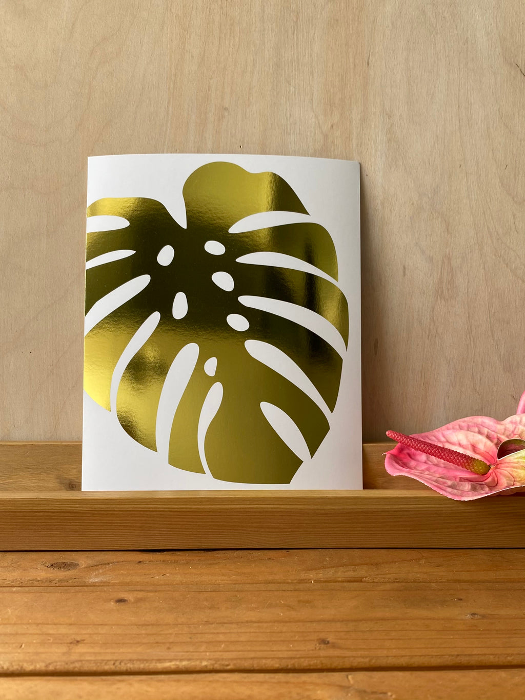 Monstera Gold Foil Print