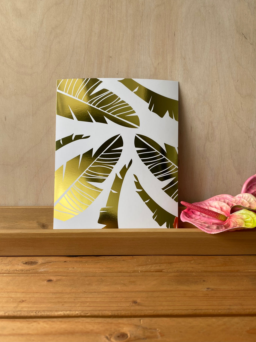 **NEW** Multi Banana Leaf Gold Foil Print