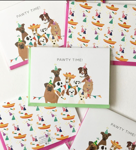 Pawty Time! Notecard