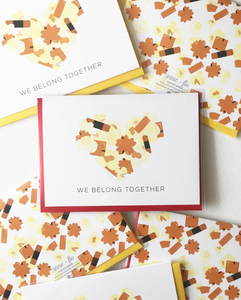 We Belong Together Popcorn & Arare Notecard